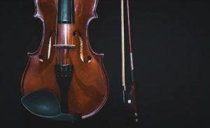 violin, viola, violonchelo, contrabajo y arpa